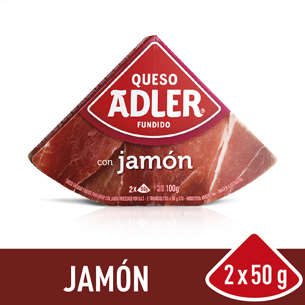 ADLER QUESO UNTABLE JAMON X100G