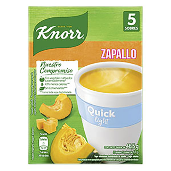 KNORR QUICK SOPA LIGHT ZAPALLO