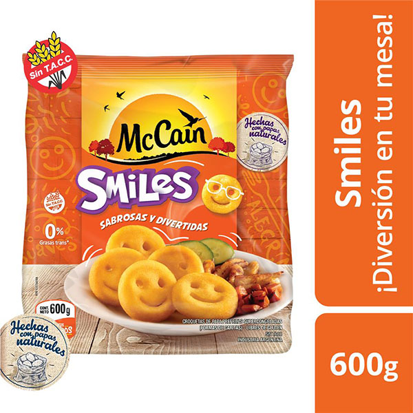 MC CAIN PAPAS SMILES X600G