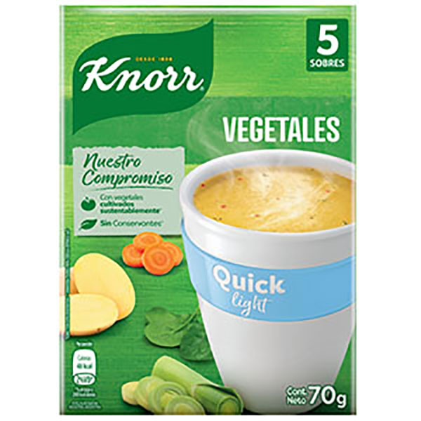 KNORR QUICK SOPA LIGHT VEGET.