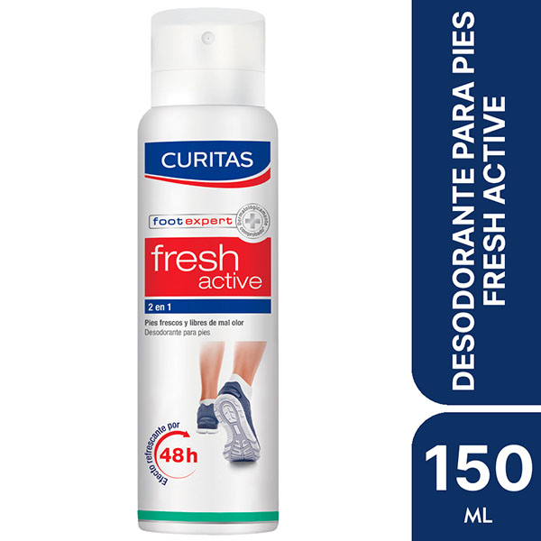 CURITAS DESOD.P/PIES FR.ACT.150ML